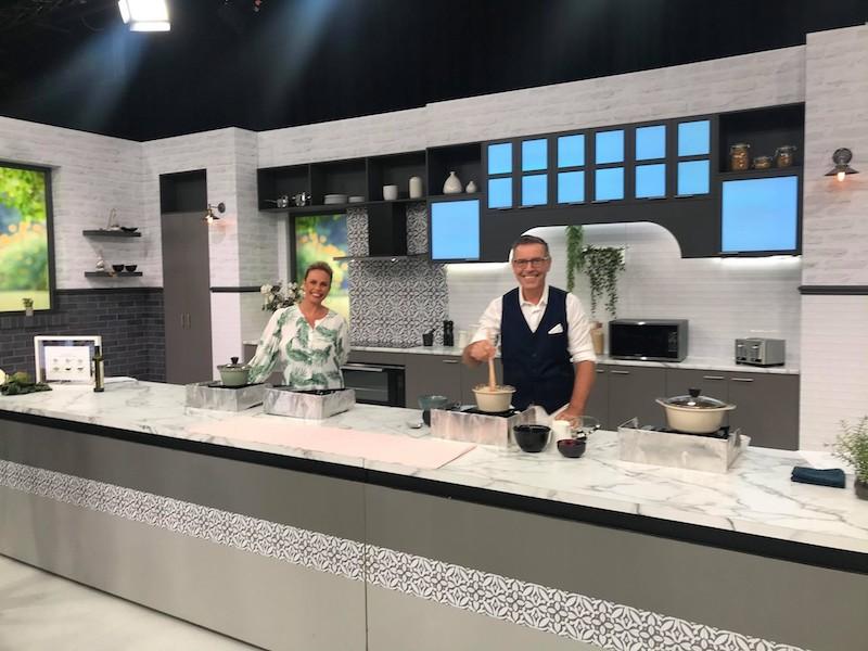 Mark Pickett on kitchen set at Open Shop